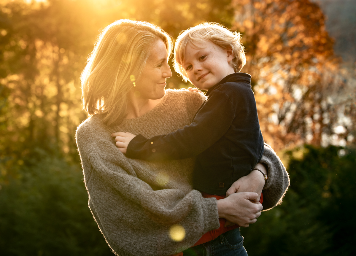 Mom and son portrait