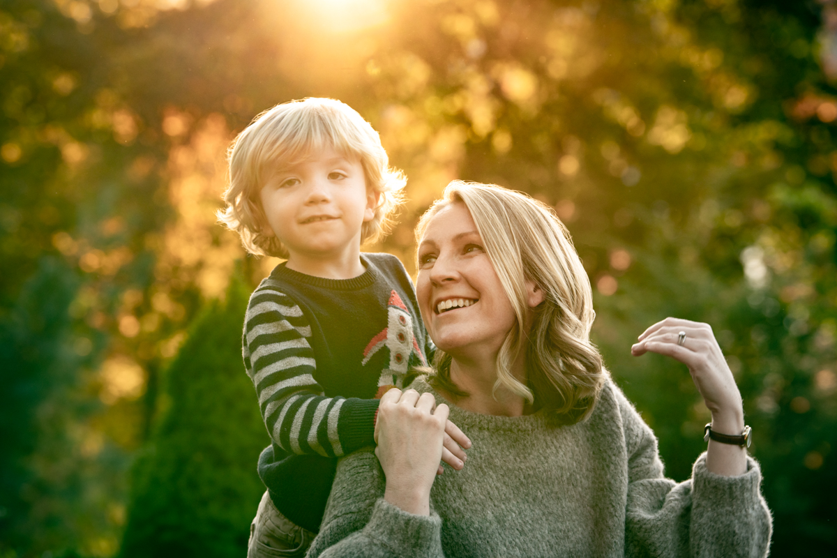 mother and son photo in the Hudson Valley